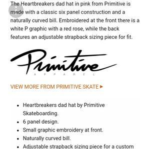 2298de9070daf Primitive Accessories - ♡New Primitive Heartbreakers Club Snapback♡